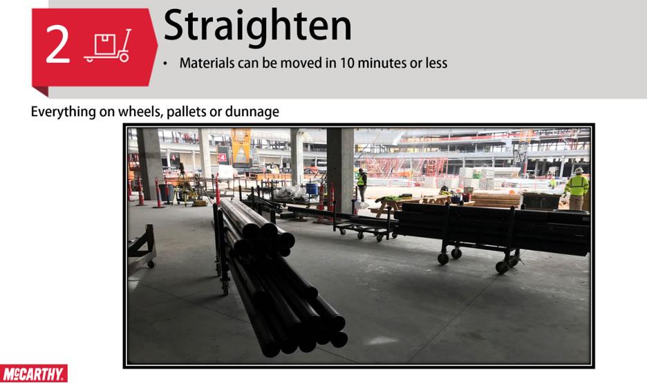 5S Lean Step 2 - Straighten