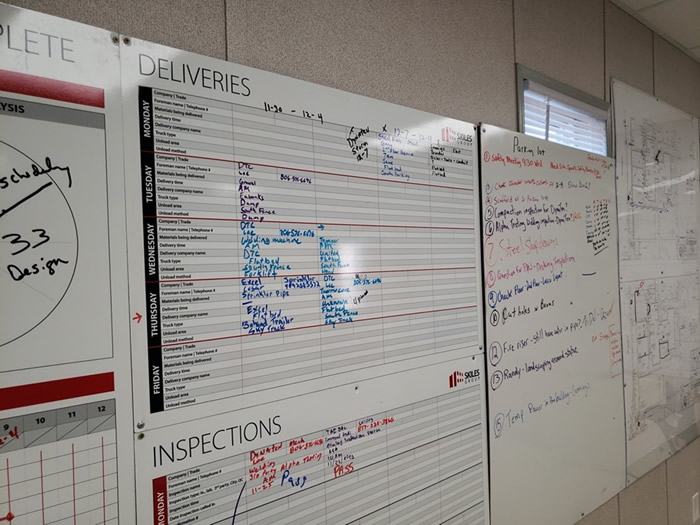 Material Delivery Board to help eliminate the 8 Wastes of Lean
