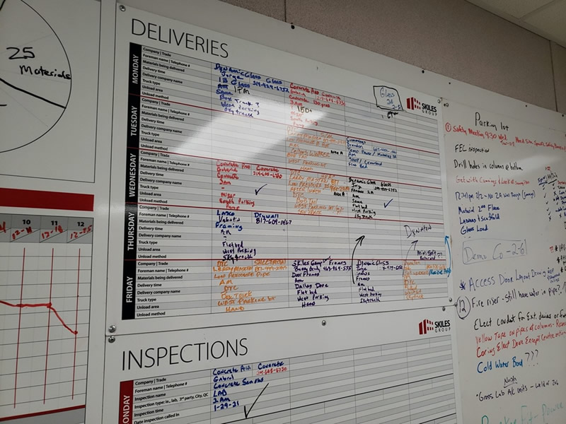 Lean Construction Material Delivery Board