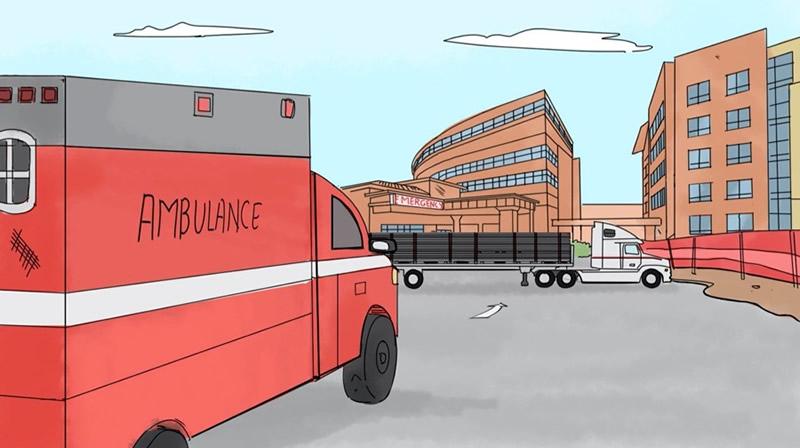 Blocking Ambulance During Construction
