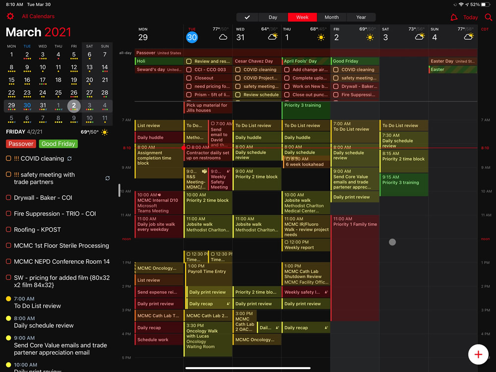 Construction Schedule Example