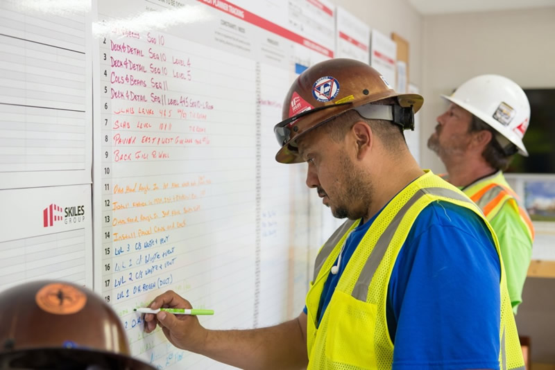Last Planner System Implementation in Construction Lean Project Management Board